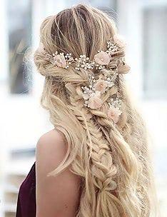 Прически на длинные тонкие волосы #50