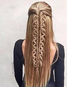 Прически на длинные тонкие волосы #53