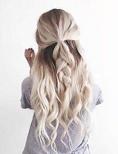 Прически на длинные тонкие волосы #55