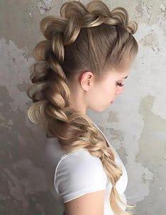 Прически на длинные тонкие волосы #56