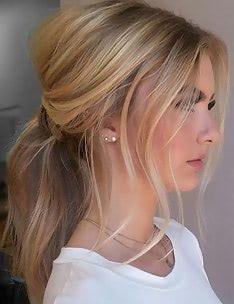 Прически на длинные тонкие волосы #04