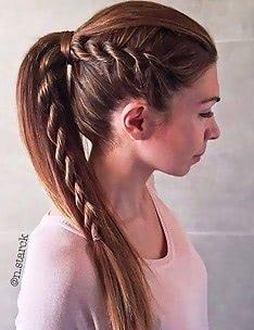 Прически на длинные тонкие волосы #57