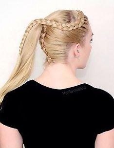 Прически на длинные тонкие волосы #62