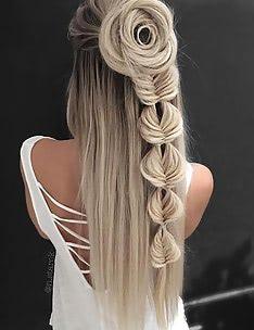 Прически на длинные тонкие волосы #63
