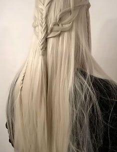 Прически на длинные тонкие волосы #64
