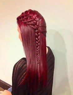 Прически на длинные тонкие волосы #65