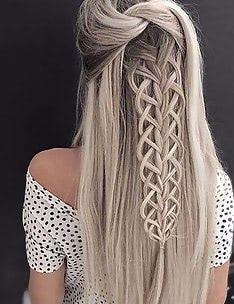 Прически на длинные тонкие волосы #66