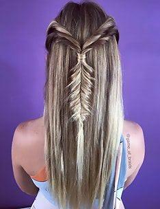 Прически на длинные тонкие волосы #05