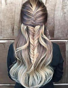 Прически на длинные тонкие волосы #67