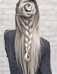 Прически на длинные тонкие волосы #73