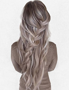 Прически на длинные тонкие волосы #76