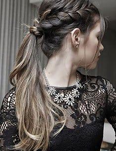 Прически на длинные тонкие волосы #77