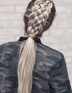 Прически на длинные тонкие волосы #80