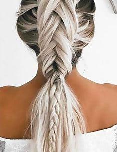 Прически на длинные тонкие волосы #81