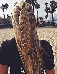 Прически на длинные тонкие волосы #83