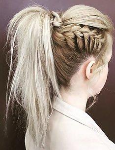 Прически на длинные тонкие волосы #85