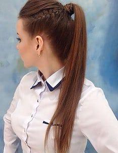 Прически на длинные тонкие волосы #86