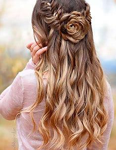 Прически на длинные тонкие волосы #87