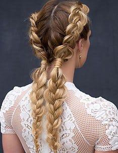 Прически на длинные тонкие волосы #88
