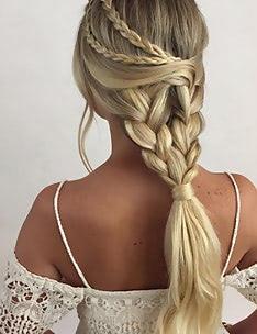 Прически на длинные тонкие волосы #89