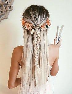 Прически на длинные тонкие волосы #08