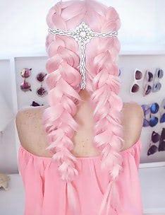 Розовые волосы #12