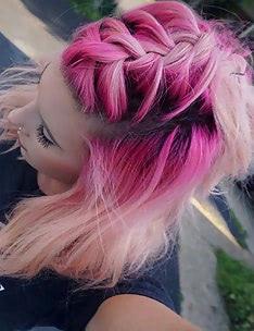 Розовые волосы #17