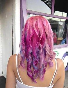 Розовые волосы #18