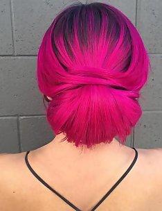 Розовые волосы #34