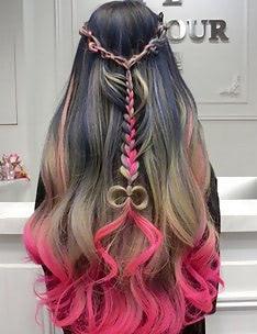 Розовые волосы #46
