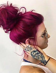 Розовые волосы #67