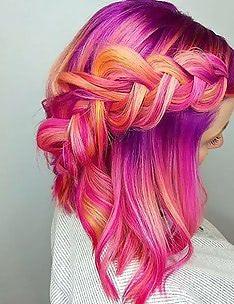 Розовые волосы #75