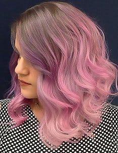 Розовые волосы #85