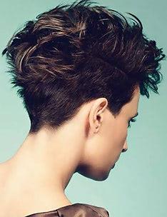 Стрижка пикси на вьющиеся волосы #04