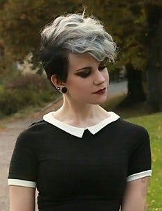 Стрижка пикси на вьющиеся волосы #07
