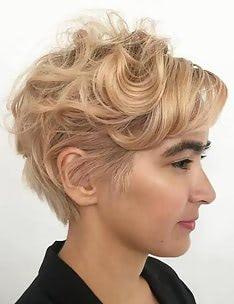 Стрижка пикси на вьющиеся волосы #10