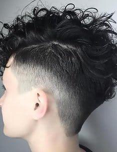 Стрижка пикси на вьющиеся волосы #13