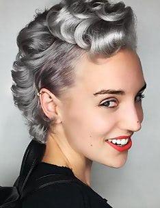 Стрижка пикси на вьющиеся волосы #20
