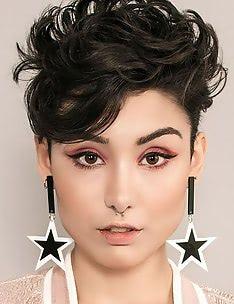 Стрижка пикси на вьющиеся волосы #27