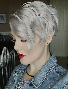 Стрижка пикси на вьющиеся волосы #33