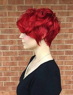 Стрижка пикси на вьющиеся волосы #38
