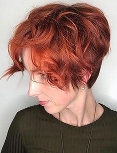 Стрижка пикси на вьющиеся волосы #44
