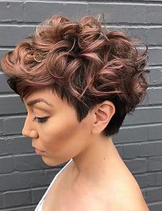 Стрижка пикси на вьющиеся волосы #54