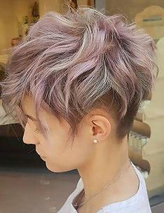 Стрижка пикси на вьющиеся волосы #67