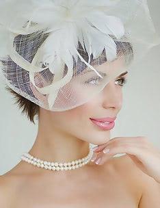 Свадебные прически на короткие волосы #01
