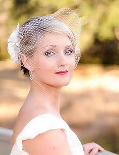 Свадебные прически на короткие волосы #06