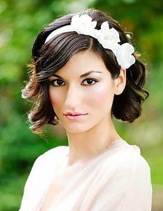 Свадебные прически на короткие волосы #08