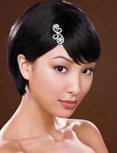 Свадебные прически на короткие волосы #09