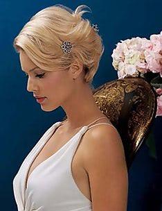 Свадебные прически на короткие волосы #10