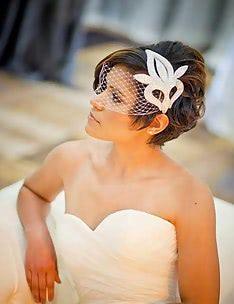 Свадебные прически на короткие волосы #12